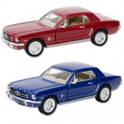 Die Cast 1964 1/2 Ford Mustang car, 1:36 scale - Available in Red, Black or Blue - Only one included