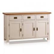 Oak Furnitureland Rustic Solid Oak & Painted Sideboards - Large Sideboard - Kemble Range - Oak Furnitureland