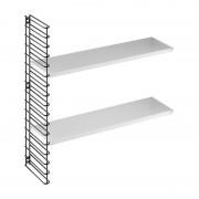 Tomado - boekenrekuitbreiding - zwart frame + witte planken