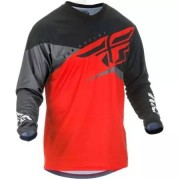FLY RACING Maillot Fly Racing F-16 2019 Rouge Noir Gris
