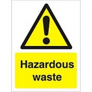 Unbranded Warning Sign Hazardous Waste Vinyl 40 x 30 cm