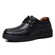 WUXUN-SHOES Business, High Quality, Durable Moda de los Hombres de Negocios Oxfords cálidos Casual Round Toe Fleece Forrado Resistente al Desgaste al Aire Libre Ocio Zapatos de Gran tamaño Shoes for Men