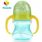 Melado Colorido PP 210ml Bebida Botella De Paja Infantil