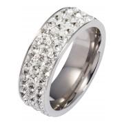 bpc bonprix collection Smycken: Dam Ring med glitterstenar i silver - bpc collection