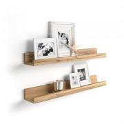 Mobili Fiver Par de estantes para cuadros, modelo First, 60 cm, color Madera Rustica