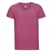 Russell Roze heren t-shirts met V-hals