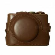 Ismartdigi PU cuero bolsa de la camara para Sony RX100 II III- Brown
