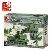 Sluban Army Elite Armored Division Building Block Toys 576 Pieces Multi Color LEGO Compatible Educational Toys M38-B0308