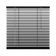 Horizontale jaloezie aluminium 25 mm - zwart - 120x130 cm - Leen Bakker