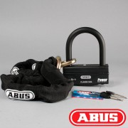 ABUS Cadena + Candado ABUS Granit 58-140 HBIII 100+12 KS 120 Negros