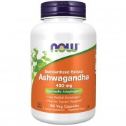 Now Foods Ashwagandha 450 mg 180 kapslí - 180 kapslí