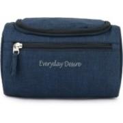 Everyday Desire Hanging Fabric Travel Toiletry Bag Organizer and Dopp Kit Travel Toiletry Kit(Blue)