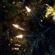 Şir luminos de Crăciun cu 100 becuri model lumânare