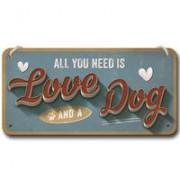 """Nostalgic-Art wandbord """"Love Dog"""""""
