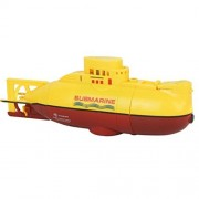 RC Boat Toys,Radio Remote Controlled RC Submarine Toy Mini Underwater Submersible By Dacawin (Yellow)