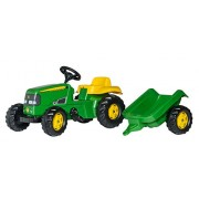 rolly toys John Deere Kid Childrens Ride on Pedal Toy Tractor with Detachable Trailer