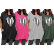 Want Clothing LTd £11 for a women's T-shirt dress with a silver heart decal in UK size 8-10 – 16-18 from Trendymissi