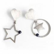 Cercei handmade argint 925 Stars si perle Swarovski lungime 5cm