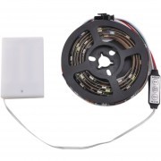 ER WS68 12 SMD 5050 RGB LED 5V Impermeable Tira De Luz Negra Con La Caja De La Batería -Banda Negra
