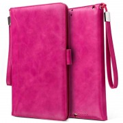 Smart Flip Case with Hand Strap - iPad 9.7 2018, iPad Air 2, iPad Air - Hot Pink