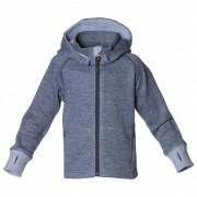 Isbjörn - Wooly Kids Hoodie - Veste en laine taille 110/116, gris/bleu