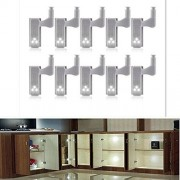 Zehui 10 Unids Bisagra con LED iluminación, led sensible del armario, Smart Touch Gabinete de Luz de Inducción Armario Luz Interior, Lámpara de la Bisagra, Luz de la Noche para armario