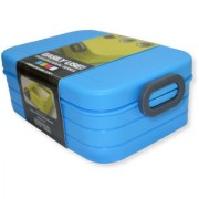 6th Dimensions Microwavable Air Tight Lunch Boxes Plastic Food Container (Blue)