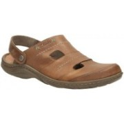 Clarks Men Brown Leather Sports Sandals