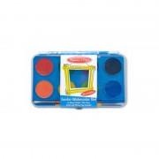 Acuarele Jumbo set de 8 culori cu pensula Melissa Doug