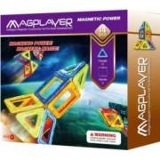 Joc de constructie magnetic MAGPLAYER 14 piese dimensiuni 21 х 5 х 22 cm Multicolor