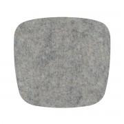 Hey Sign - Filz-Auflage Eames Plastic Armchair, hellmeliert 5 mm AR, mit Antirutsch-Beschichtung