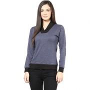 Hypernation Shawl Collar Light Grey Body With Solid Black Collar And Rib Tshirt