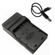 ismartdigi lpe10 micro usb cargador de bateria de la camara movil - negro