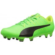 PUMA Men's Evopower Vigor 4 FG Soccer Shoe, Green Gecko-Puma Black-Safety Yellow, 9 M US