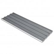 vidaXL 12 db horganyzott acél tetőpanel szürke