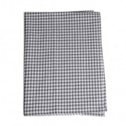 Dille&Kamille Torchon, coton, gris/blanc, vichy, 50 x 70 cm
