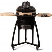 "Patton - Kamado 16"" - Premium Black - Keramische barbecue - incl. Bluetooth kerntemperatuurmeter - LED verlichting - Medium - Compleet - Zwart"