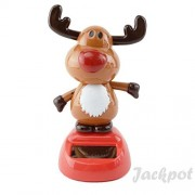 Solar Toy Powered Dancing Christmas 1 Snow Man 1 Angel 1 Red Nosed Reindeer Set ( Set of 3 ) By Jackpot