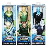 "Marvel Titan Hero Series Ultimate Spider-Man Sinister 6 Electro VS Vulture VS Sandman Posable 12"" Action Figure Moveable Series"