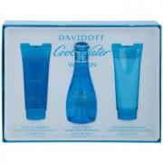 Davidoff Cool Water Woman lote de regalo X. eau de toilette 100 ml + leche corporal 75 ml + gel de ducha 75 ml