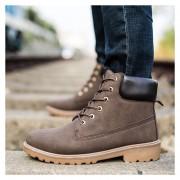 Botas Hombre Martin Alto Zapatos De Los Hombres Al Aire Libre -Marrón
