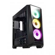 Кутия Xigmatek Mystic 9 Tempered Design, ATX / Mini ITX / Micro ATX, 2x USB 3.0 / 2x USB 2.0, 3x вентилатор CH120 RGB + CHB1, черна, без захранване