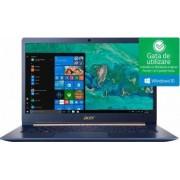 Ultrabook Acer Swift 5 Intel Core Kaby Lake R (8th Gen) i5-8250U 256GB SSD 8GB Win10 FullHD Tast. ilum. FPR Charcoal Blue