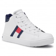 Sneakers TOMMY HILFIGER - High Top Lace-Up Sneaker T3B4-30925-1031 S White 100