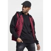 Diamond Quilted Hooded Vest burgundy/black XXL