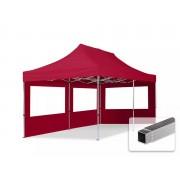 tendapro.it Gazebo Pieghevole ALU 3x6m PVC-beschichtetes Poliestere rosso Padiglione Richiudibile Automatico