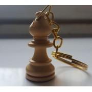 Breloc chei cu piesa sah din lemn