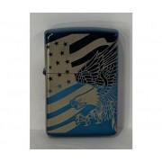 ZIPPO Accendino Premium Patriotic Design Made In Usa