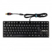 AULA F2012 Contractor Series 87 Keys USB Wired Mechanical Gaming Keyboard(Black)