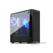 Carcasa PC ATX SilentiumPC Armis AR7 TG RGB, fara sursa, negru